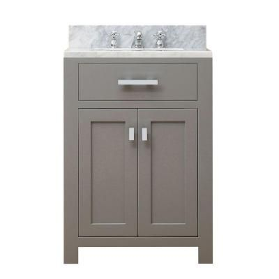 Water Creation 24 In W X 21 In D Vanity In Cashmere Grey With