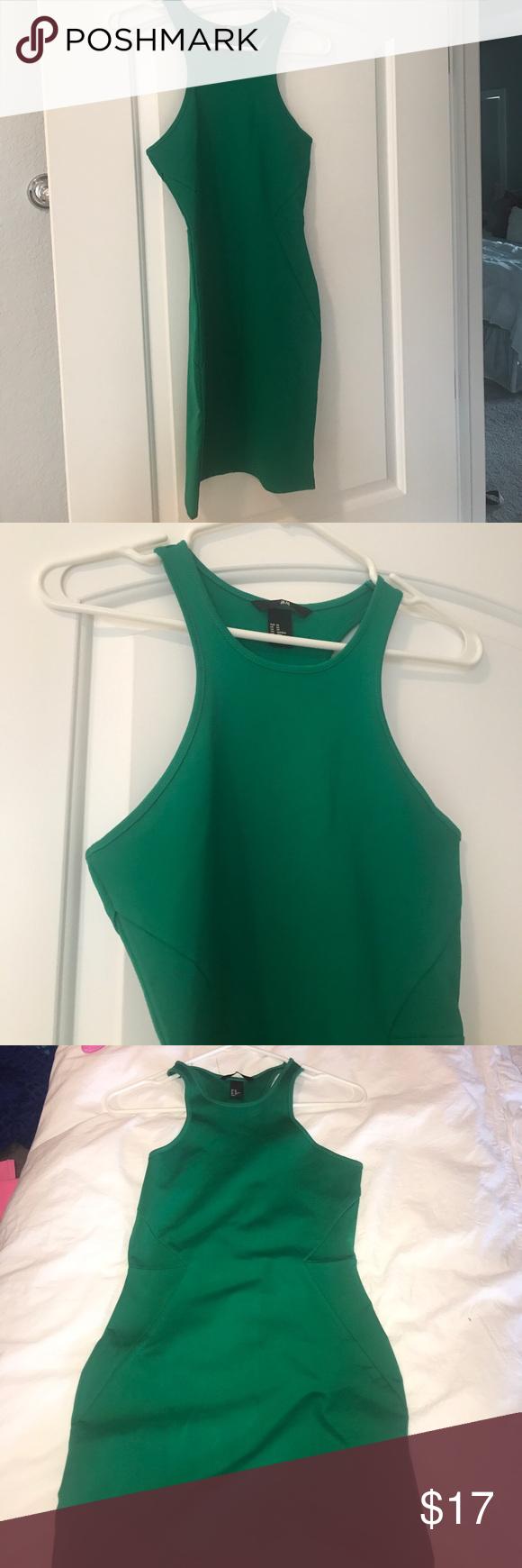 H&m dusty pink dress  HuM green bodycon dress  Green bodies Body con and Bodycon dress