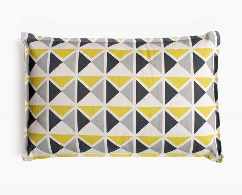 coussin d co 1930 jaune gris noir middle century pattern pinterest coussin deco jaune. Black Bedroom Furniture Sets. Home Design Ideas