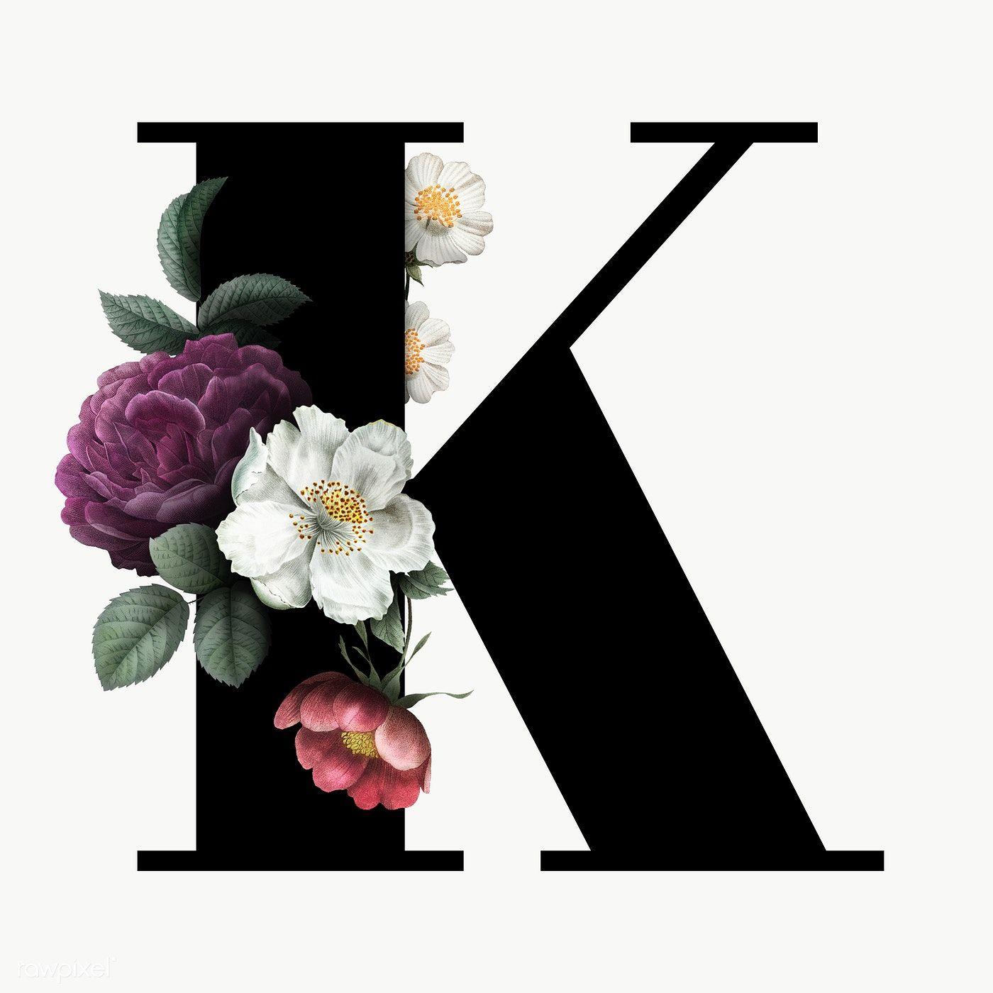 Classic And Elegant Floral Alphabet Font Letter K Transparent Png Free Image By Rawpixel Com Manota Lettering Alphabet Fonts Fonts Alphabet Lettering Fonts