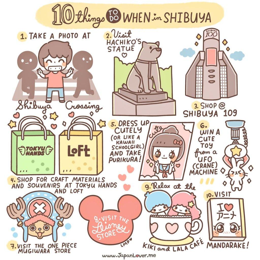 10 Cosas para hacer en SHIBUYA <3