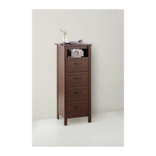 brusali 4 drawer chest brown brown 20 1 8x52 3 4 apartment pinterest drawers master. Black Bedroom Furniture Sets. Home Design Ideas