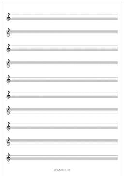 printable plain music sheets