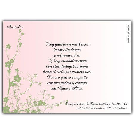 Quinceanera invitation card. Tarjeta invitación para 15 años ...