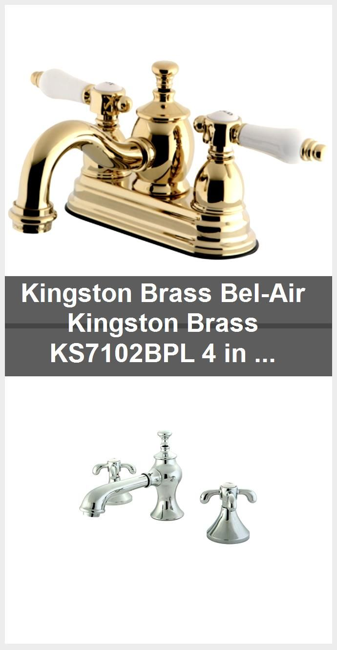 Photo of Kingston Brass Bel-Air Kingston Brass KS7102BPL 4 in. Centerset Bathroom Faucet, Polished Bra…