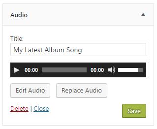 audio widget wordpress