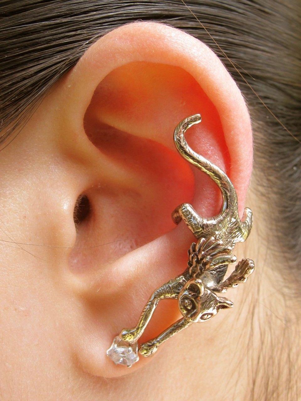 Angel Kitty Cat Ear Cuff Bronze - Bling Shop