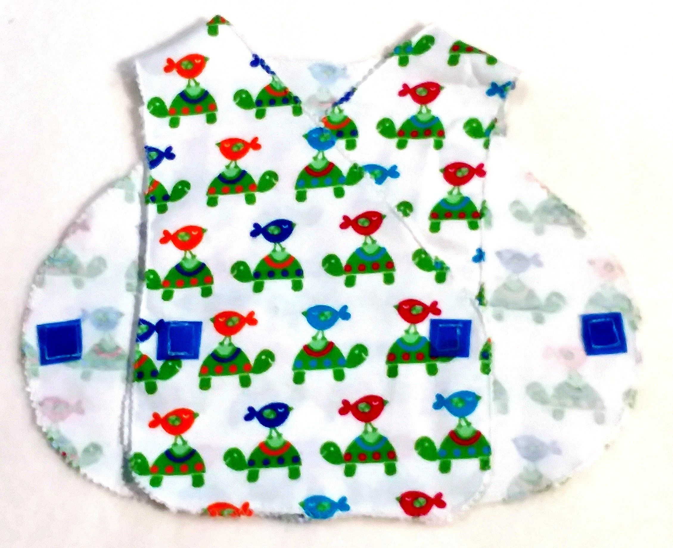 MICRO Preemie Hospital Gown Flannel NICU Approved Gown 3-5 lbs. Gift ...
