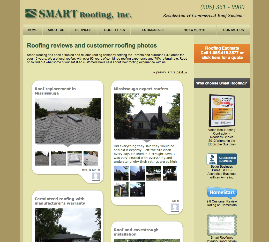 Roofers Collect Reviews And Showcase Their Work With Instamonials Roofer Roofing Systems Roofing Estimate