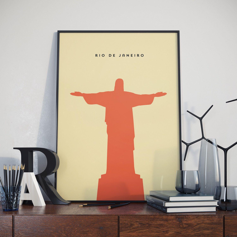 Rio De Janeiro Christ The Redeemer High Quality Poster Print Design