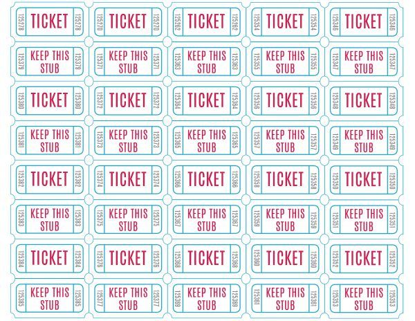 Free Printable Raffle Tickets Printable raffle tickets, Raffle - Free Printable Raffle Ticket Template Download