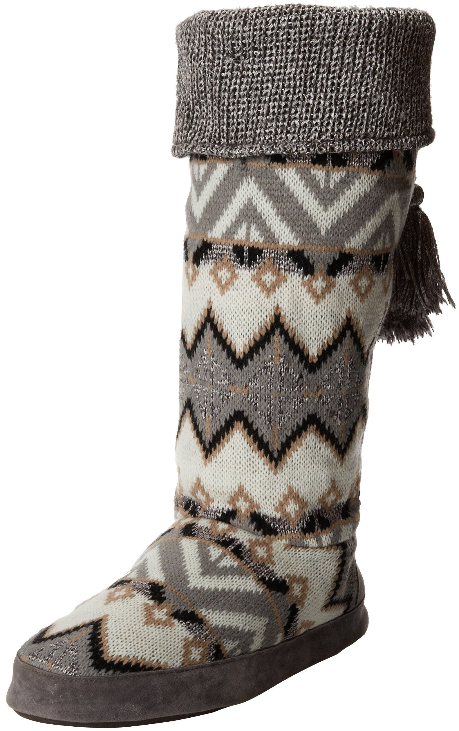 Muk Luks Women's Winona Sequence Tall Slipper Boot, X-Large