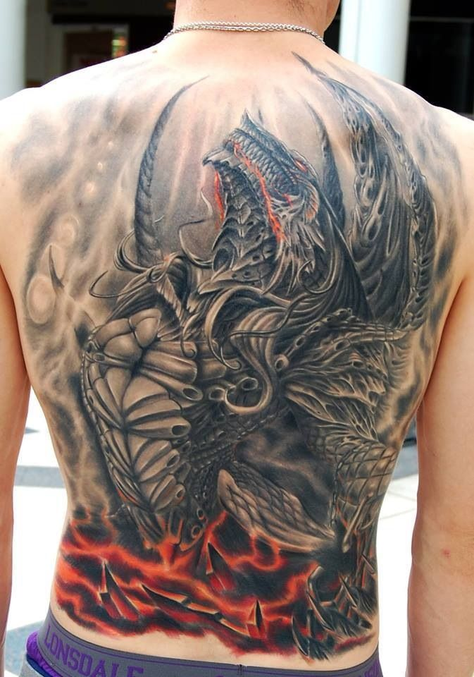 10 Mind Blowing Back Piece Tattoos Epic Dragon tattoos