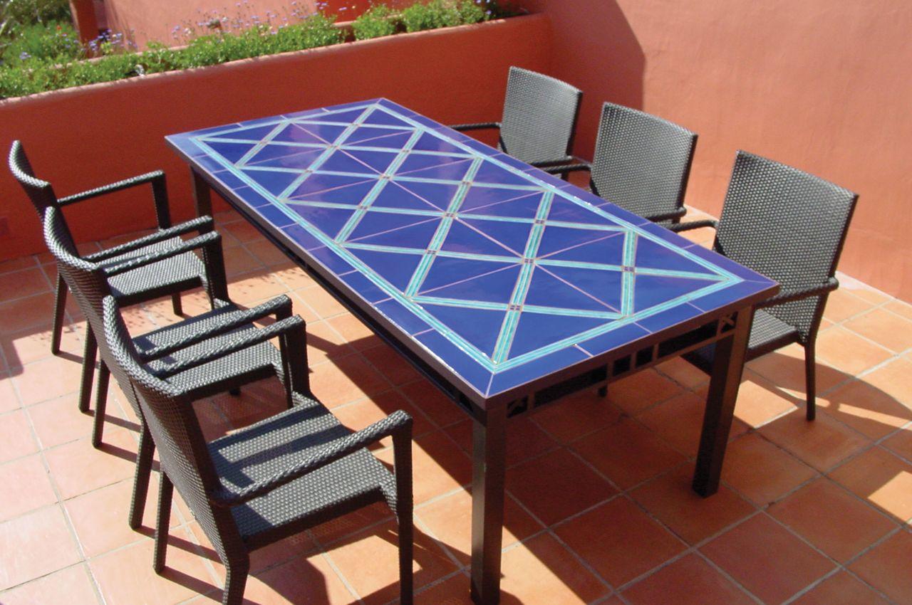 Mosaic Ceramic Tablecross Designwwwgvega Dining Room Impressive Mosaic Dining Room Table Review
