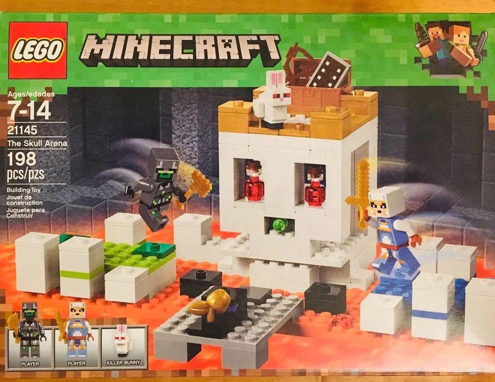 198 Piece LEGO Minecraft Set The Skull Arena 21145 Building Blocks Kit Toys