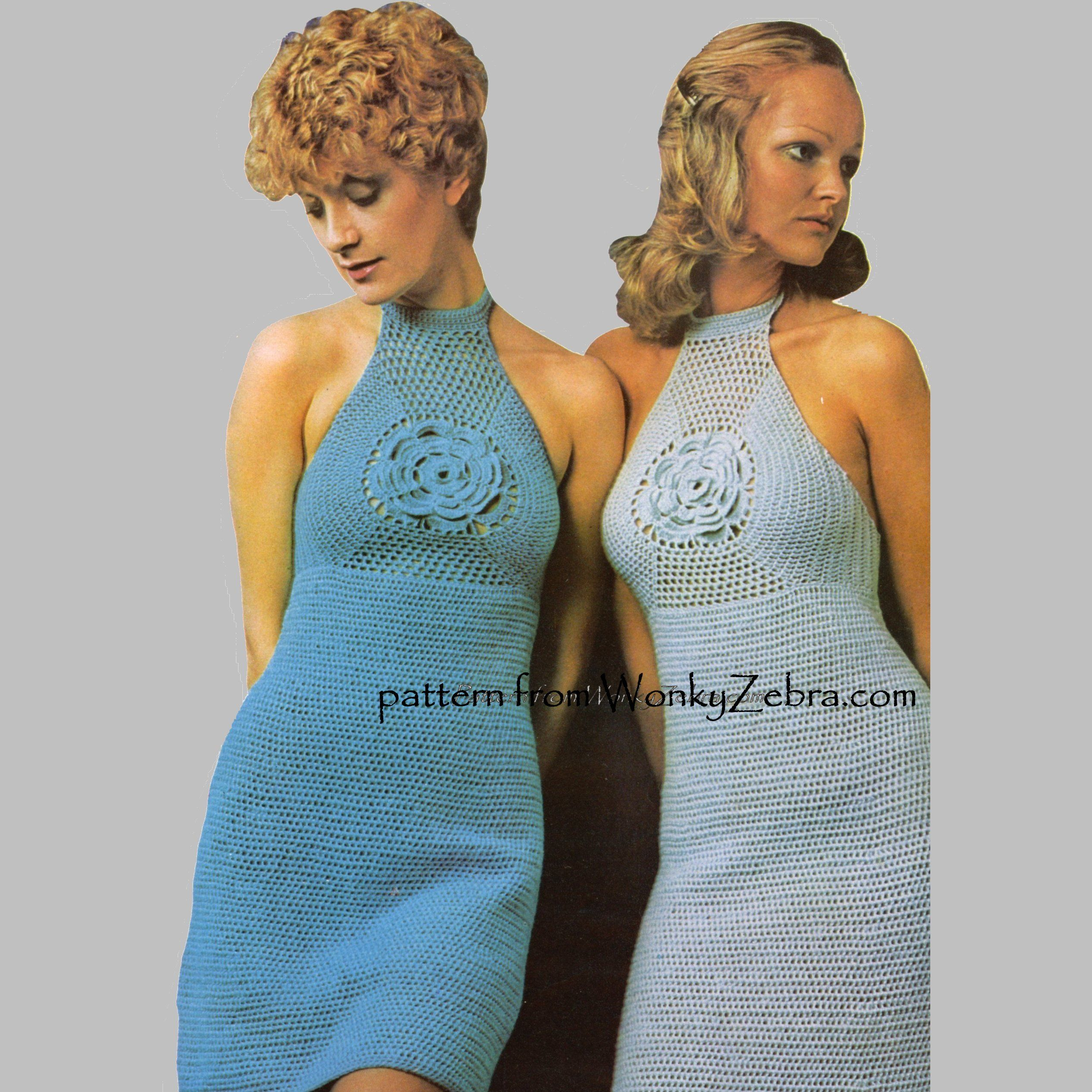 WonkyZebra WZ092 sixties vintage crochet dress.mini midi or top ...