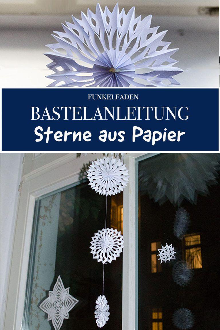 Anleitung - Einfache Sterne aus Papier basteln für Weihnachten / DIY