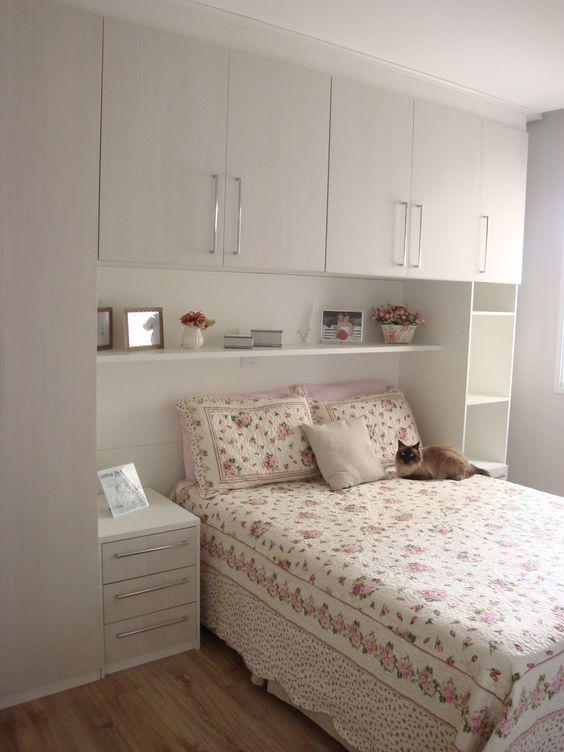 Quarto de casal pequeno 21 ideias para se inspirar for Ideas para dormitorios pequenos