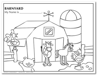 Barnyard Coloring Pages Barnyard Animals Coloring Sheets