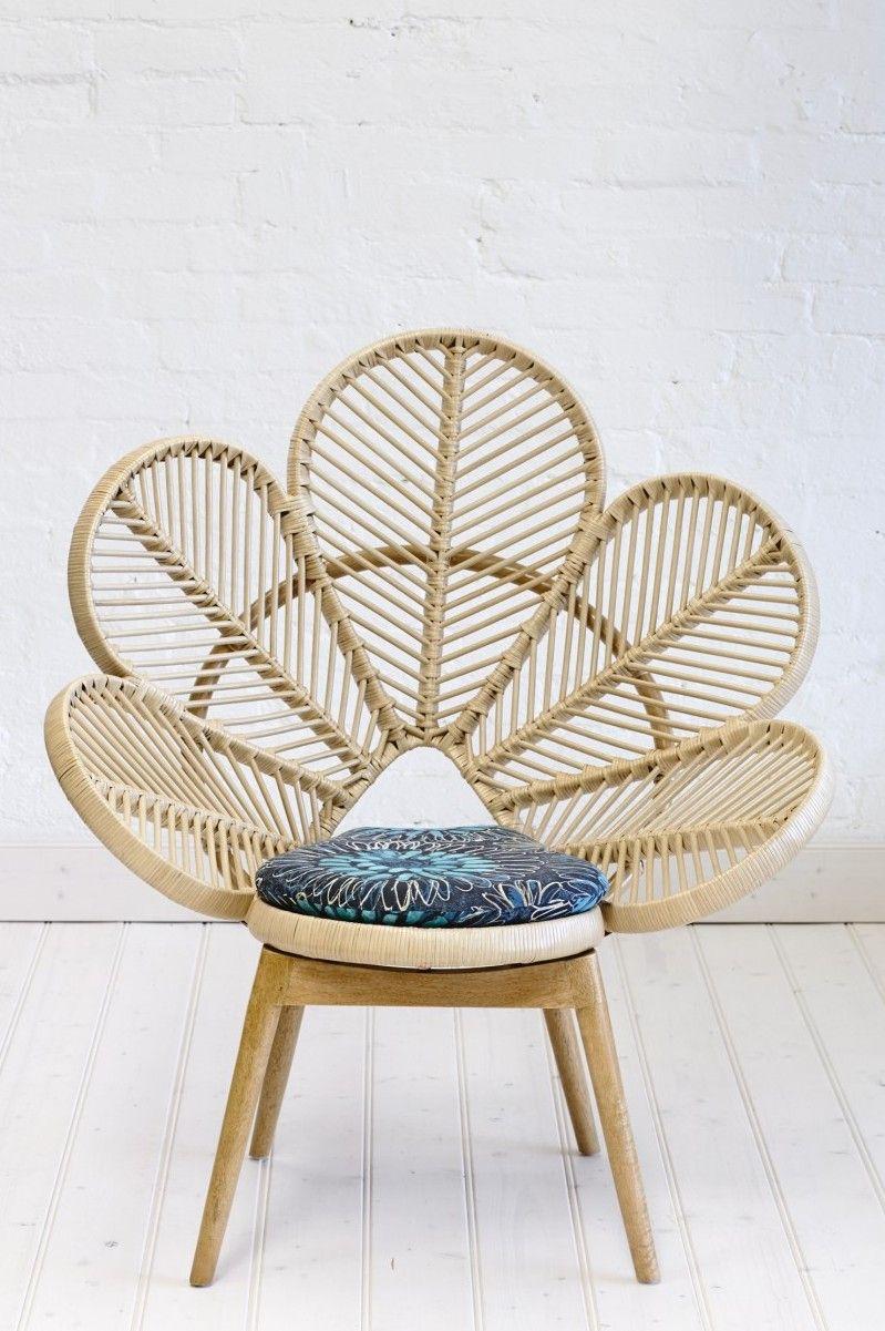 Natural Rattan Love Chair | Rattan Peacock Chair