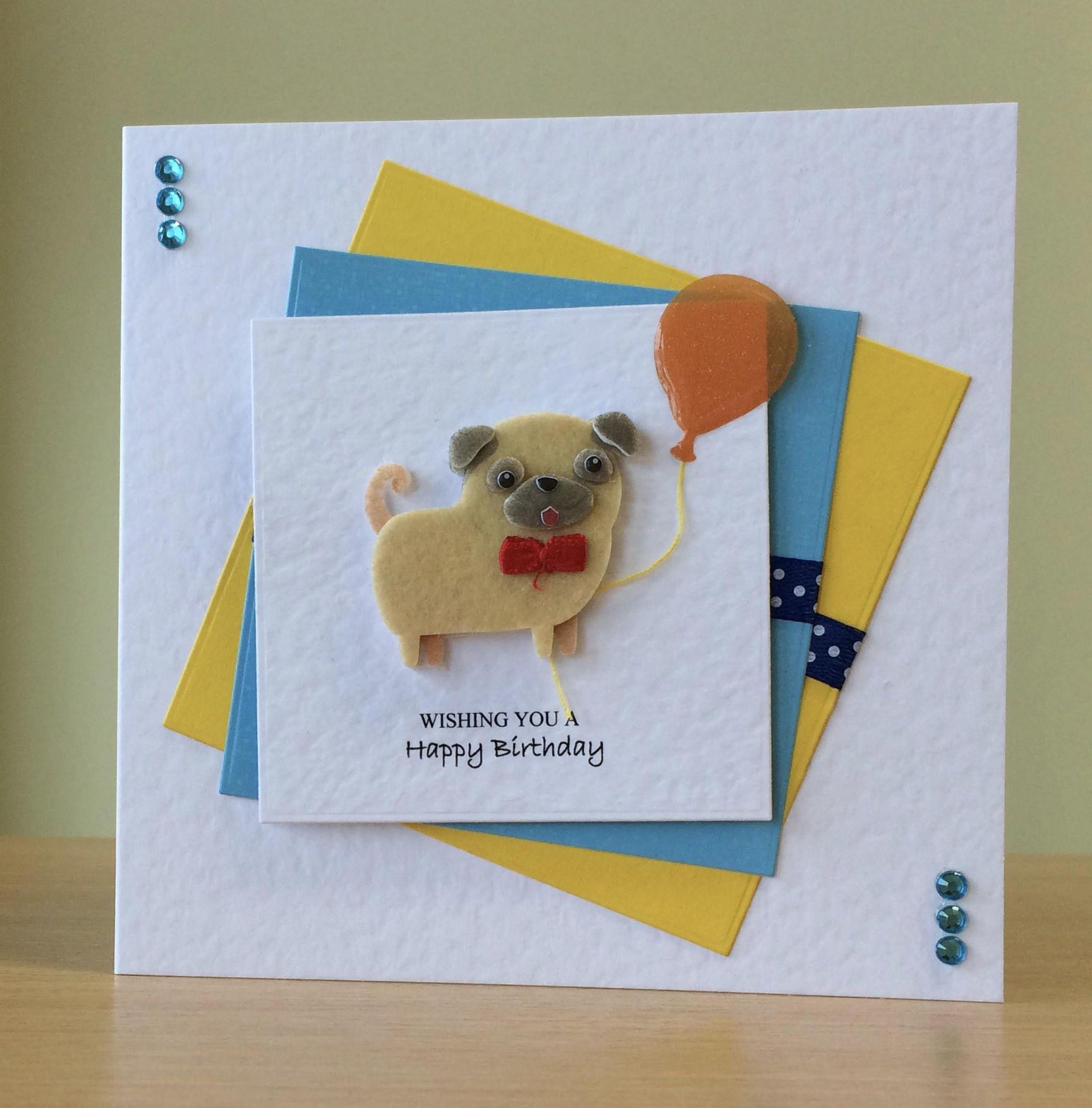 Birthday Card Chihuahua Birthday Card Pug Birthday Card Etsy Dog Cards Handmade Birthday Cards Handmade Birthday Cards