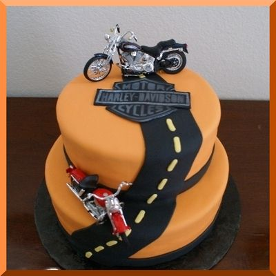 Pleasing Harley Cake Cupcake Cake Designs Harley Davidson Cake Cake Funny Birthday Cards Online Overcheapnameinfo