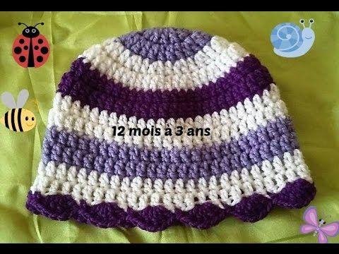 53afffdcbdb7 Bonnet au crochet pour enfant de 12 mois a 3 ans   crochet   Crochet ...