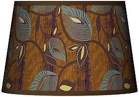 Stacy Garcia Vine Peacock 13x16x10.5 Tapered Lamp Shade