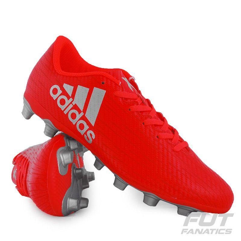 d10fc0ff1b5 Chuteira Adidas X 16.4 FXG Campo Laranja Somente na FutFanatics você compra  agora Chuteira Adidas X