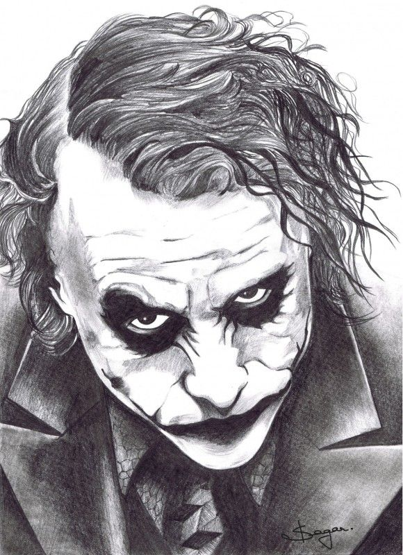 Pencil Sketches Of Joker