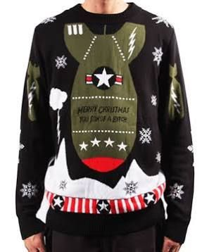 La Police Gear The Dive Bomber Christmas Sweater Eod Pinterest