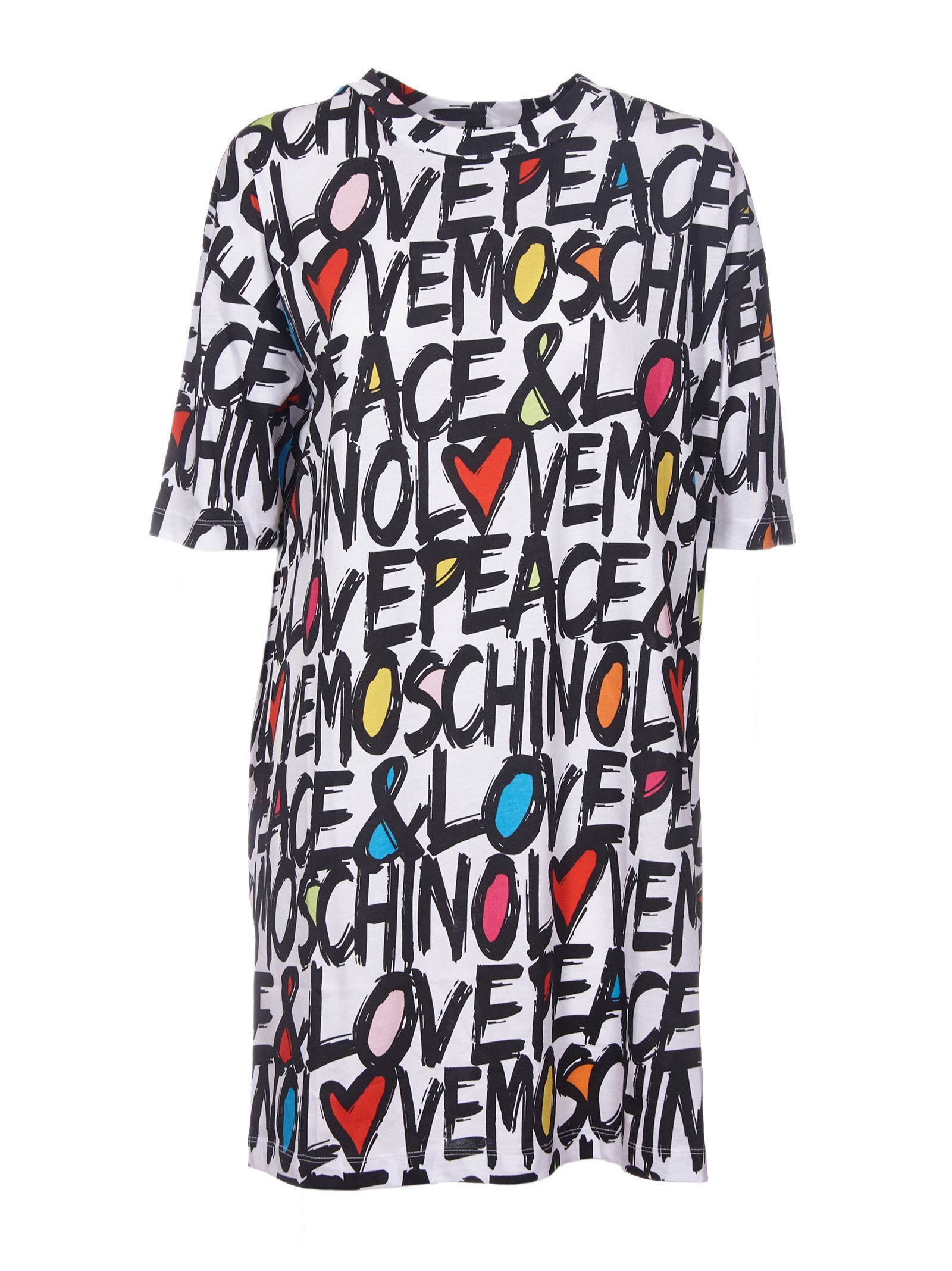 7b07ca0d5 LOVE MOSCHINO PEACE & LOVE T-SHIRT DRESS. #lovemoschino #cloth ...