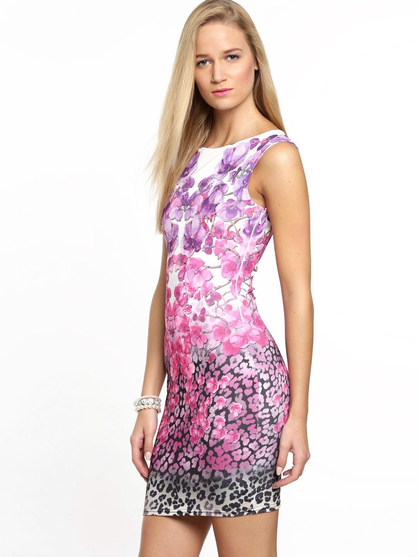 Kardashian Animal Print Bodycon Dress - Lipsy - Polyvore  64e74bb65