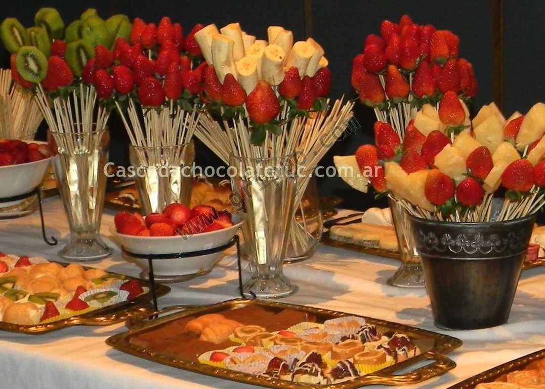 Cascada y mesa dulce de chocolate para tu fiesta tucuman for Decoracion mesas dulces