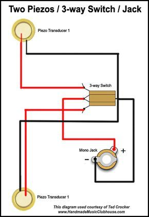 Advanced Piezo Wiring Diagram Cigar Box Guitar Cigar Box Cigar Box Guitar Plans