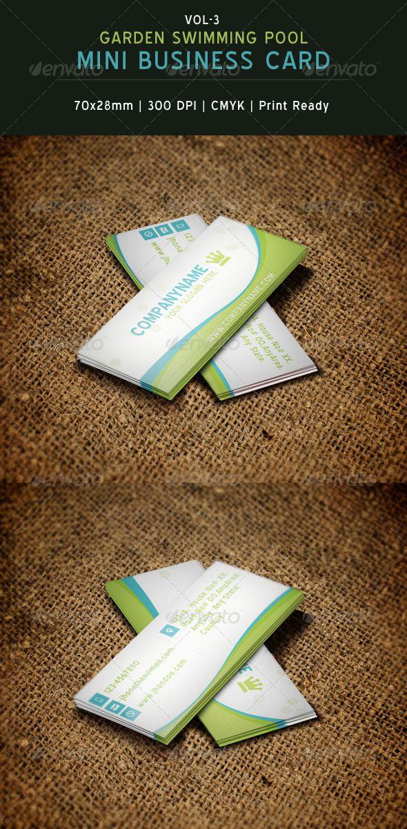 Garden Swimming Pool Mini Business Card 03 Graphicriver Fs 2