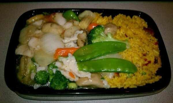 Moo Goo Gai Pan Chicken & veggies.