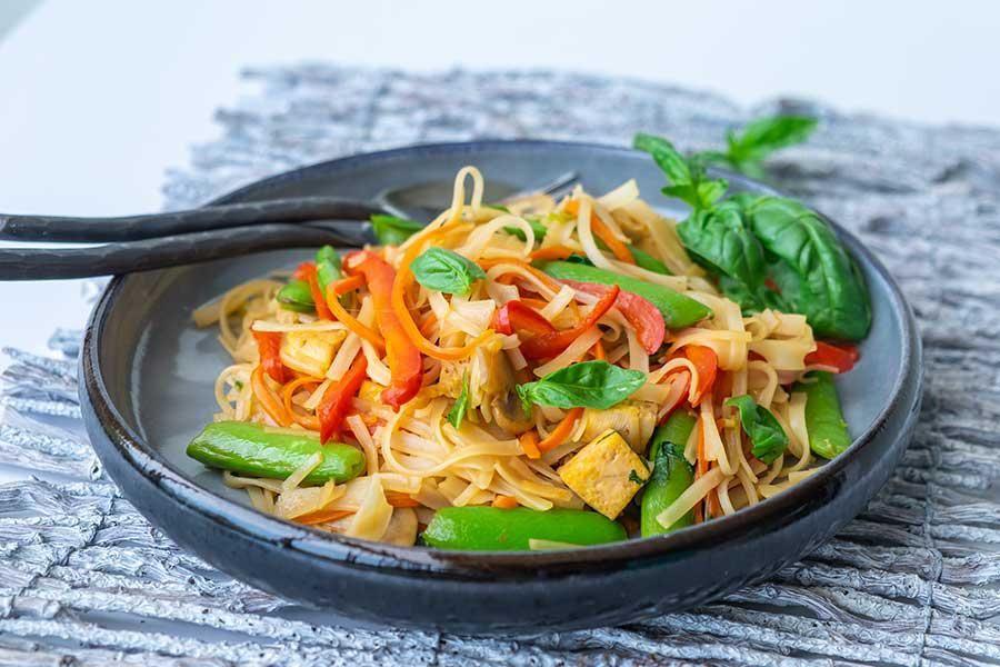 GlutenFree Saucy Thai Noodles The noodle dish tastes