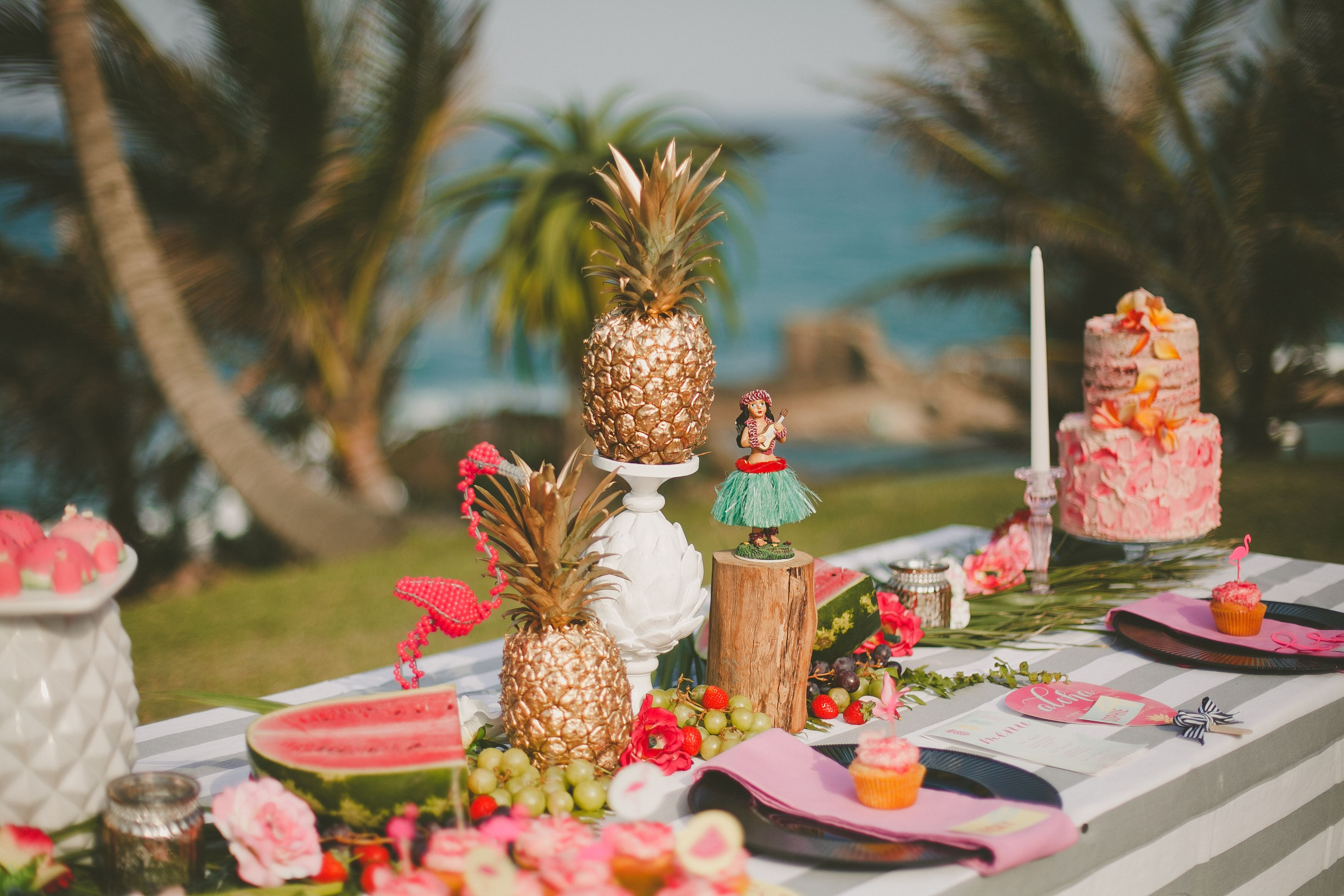 Tropical themed bachelorette party aloha
