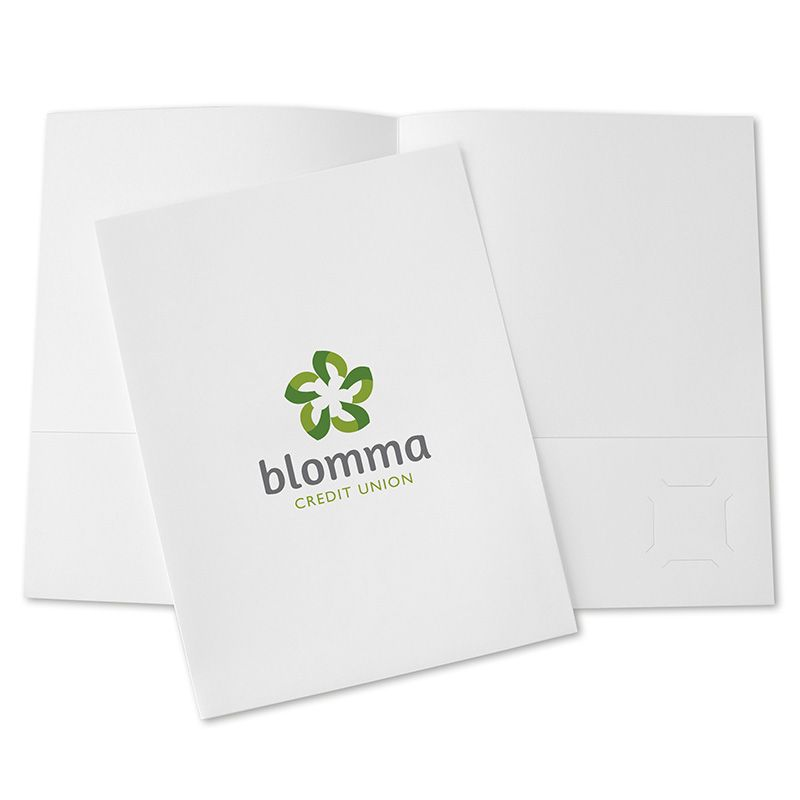 pocket folder design tip: sometimes all you need is your logo. get, Powerpoint templates