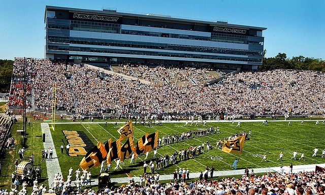Ross Ade Stadium Purdue University Home Football Game With Images Purdue University Purdue Stadium