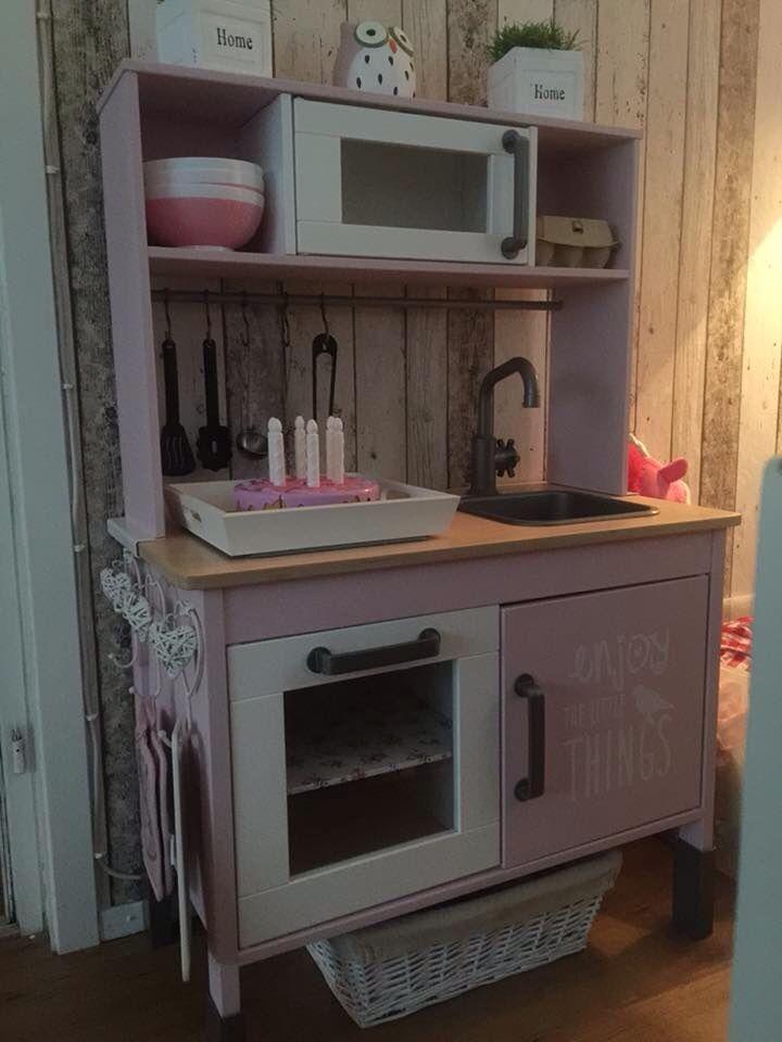 Diy keukentje van ikea oa actionverf children - Cocinas de madera para ninos ikea ...