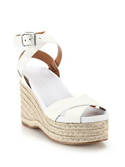sale 2014 newest Ralph Lauren Collection Leather Ankle Strap Wedges visit new online clearance for sale explore cheap online free shipping supply JllVBeg7