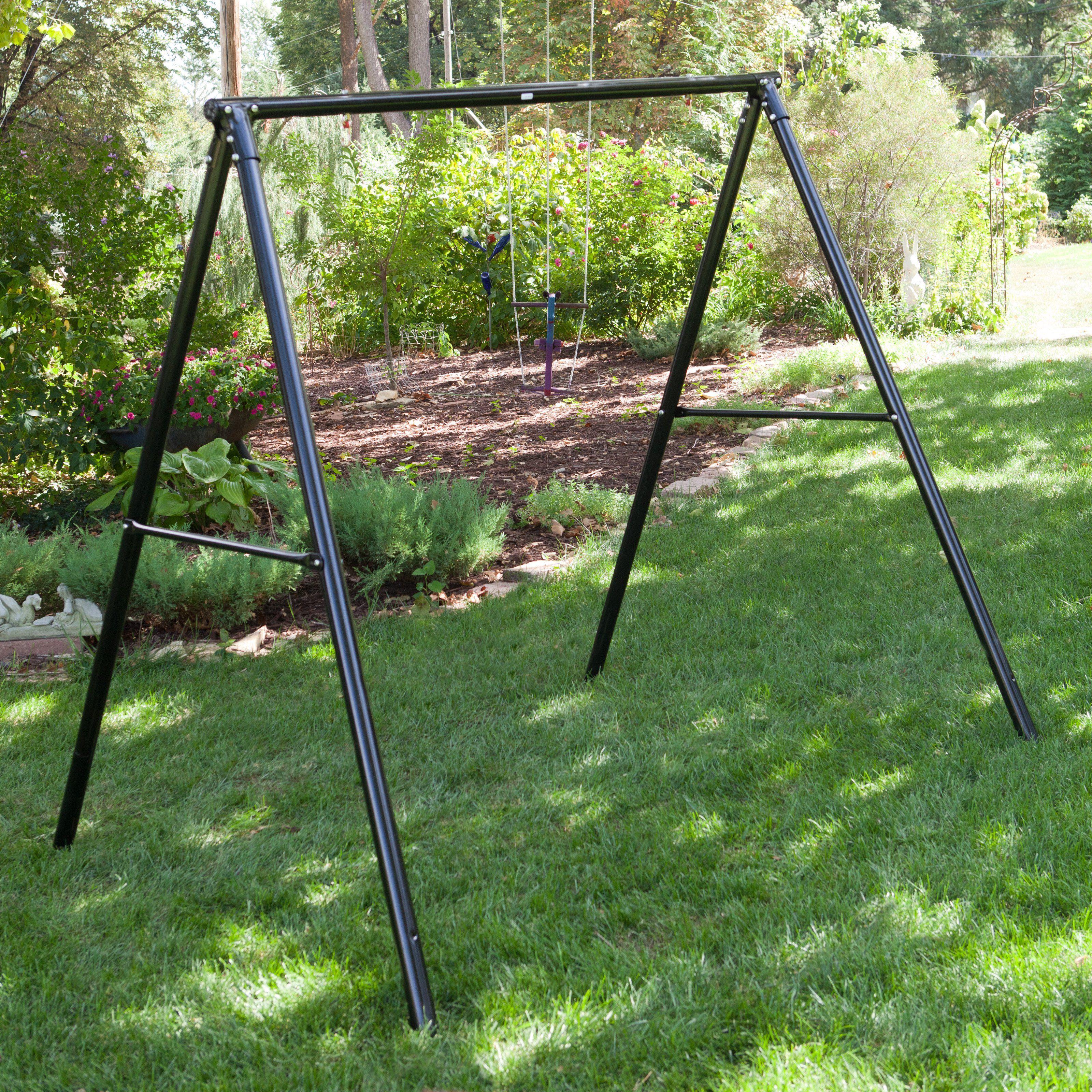 Patio swing set flexible flyer lawn swing frame t products