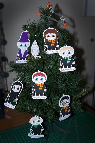 Harry Potter Printable Christmas Tree Ornaments Harry Potter Christmas Tree Harry Potter Ornaments Harry Potter Christmas