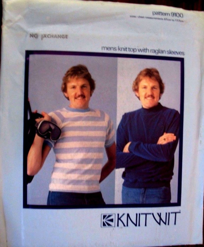 Knitwit sewing pattern mens tshirt sweater no9100 sizes 87cm knitwit sewing pattern mens tshirt sweater no9100 sizes 87cm to 117 cm bankloansurffo Images