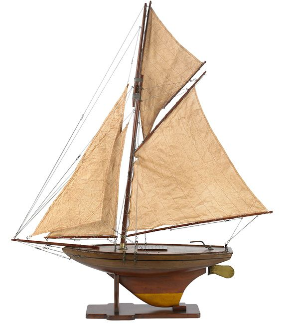 nautical - nautical decor - ship model - This Victorian yacht model ...