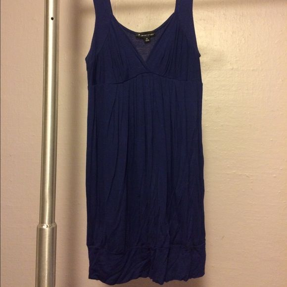 Blue baby doll Forever21 dress Cute and fun, dark blue baby doll dress Forever 21 Dresses Mini