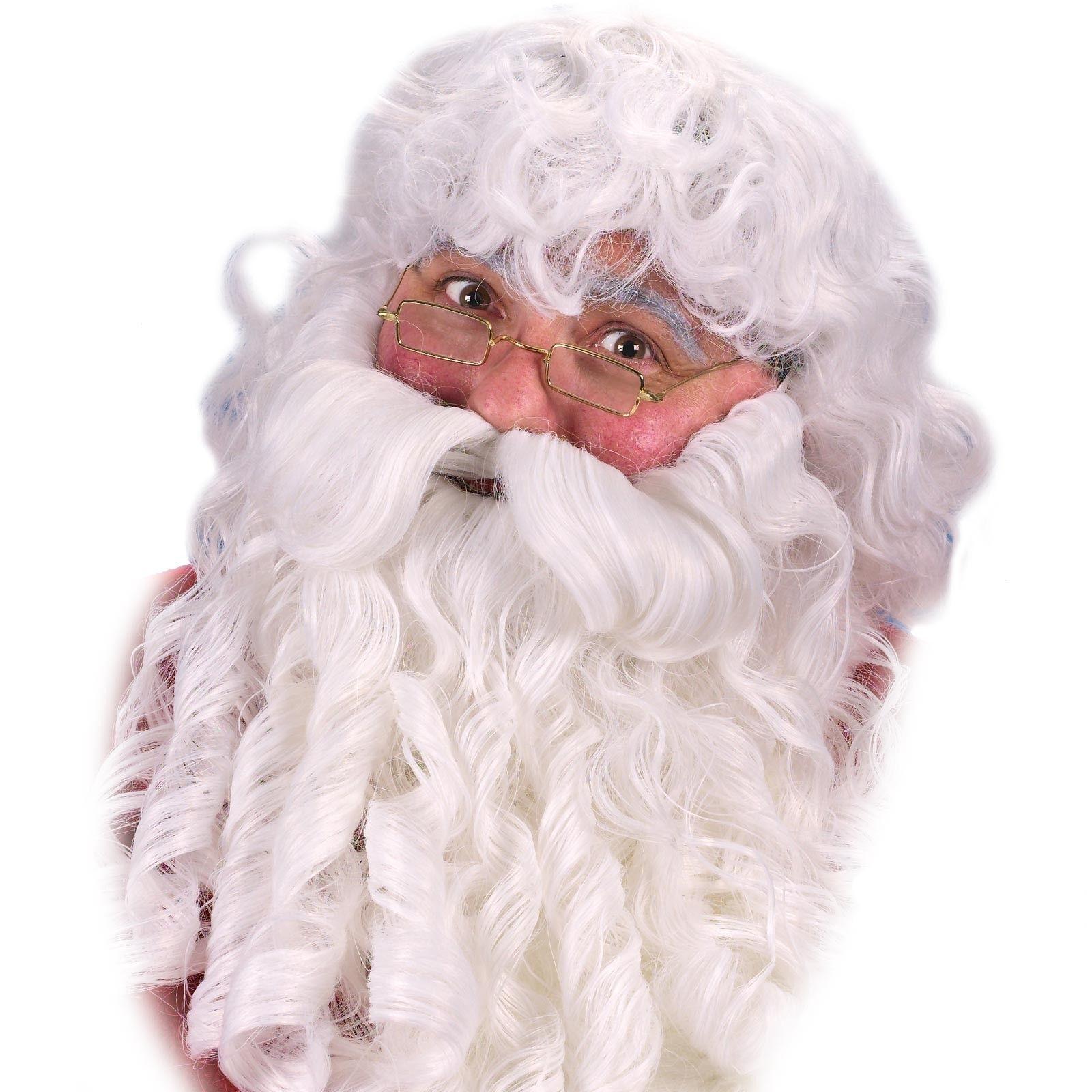 WIG BEARD MUSTACHE EYEBROWS SANTA SET CHRISTMAS FANCY DRESS COSTUME ACCESSORY