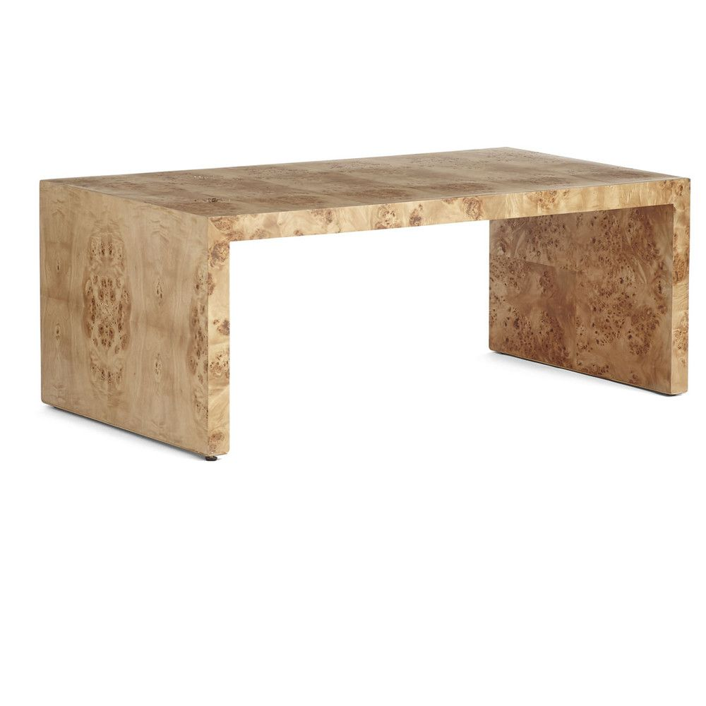 Oslo Burl Wood Veneer Coffee Table Burled Wood Wood Furniture